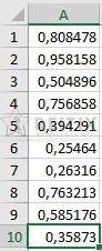 excel rand fonksiyonu sayı üretmek
