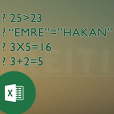 Excel'de TRUE ve FALSE Kullanımı
