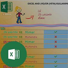 Excel'de AND (VE) ve OR (VEYA) Kullanımı