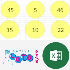 Excel ile Sayısal Loto Çekilişi Yapmak