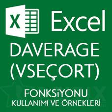 Excel DAVERAGE (VSEÇORT) Fonksiyonu Kullanımı ve Örnekleri