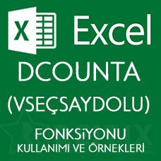 Excel DCOUNTA (VSEÇSAYDOLU) Fonksiyonu Kullanımı ve Örnekleri