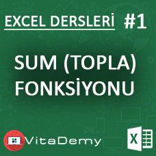 Excel SUM (TOPLA) Fonksiyonu Kullanımı ve Örnekleri