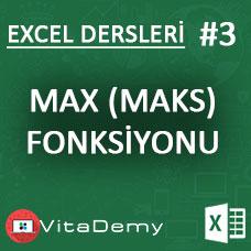 Excel MAX (MAKS) Fonksiyonu Kullanımı ve Örnekleri