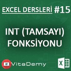 Excel INT (TAMSAYI) Fonksiyonu Kullanımı ve Örnekleri
