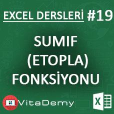 Excel SUMIF (ETOPLA) Fonksiyonu Kullanımı ve Örnekleri