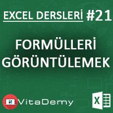 Excel'de Formülleri Toplu Olarak Görüntülemek
