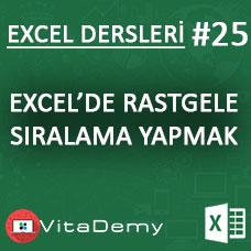 Excel'de Rastgele Sıralama Nasıl Yapılır?