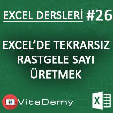 Excel'de Tekrarsız Rastgele Sayı Üretmek