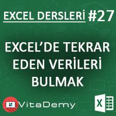Excel'de Tekrar Eden Verileri Bulmak