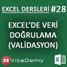 Excel'de Veri Doğrulama (Validasyon)
