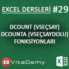 Excel DCOUNT VE DCOUNTA Fonksiyonu Kullanımı ve Örnekleri