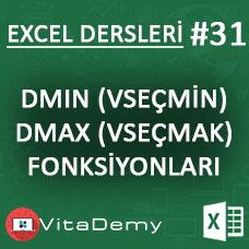 Excel DMIN ve DMAX Fonksiyonu Kullanımı ve Örnekleri