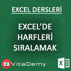 Excel'de Kelimenin Harflerini Alfabetik Sıralamak (Excel VBA)