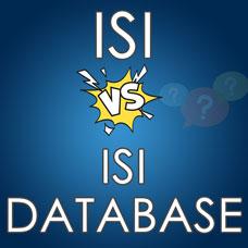 Alan Endeksinde ISI ile ISI DATABASE farkı