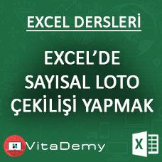 Excel'de Sayısal Loto Çekişi Yapan Uygulama Hazırlamak