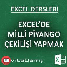 Excel ile Milli Piyango Çekilişi Yapma Uygulaması