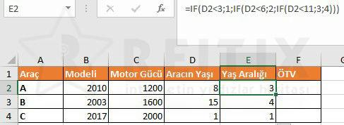 Excel mtv hesaplama