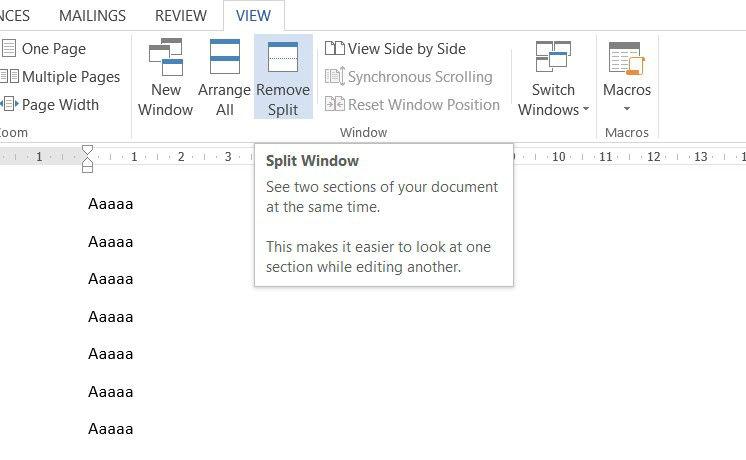 word remove split