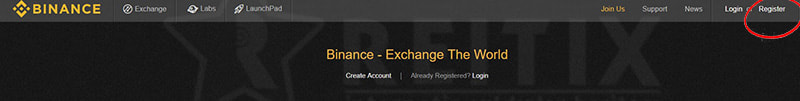 binance register