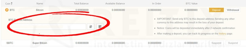 binance btc wallet