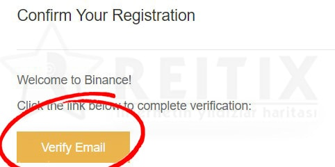 binance email doğrulama