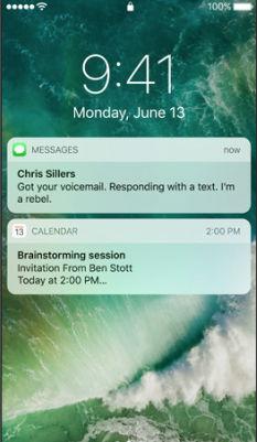 ios 10 Kilit Ekranı