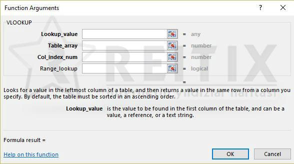 Excel VLOOKUP Ekranı