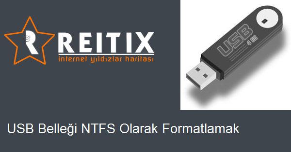 USB Belleği NTFS Olarak Formatlamak