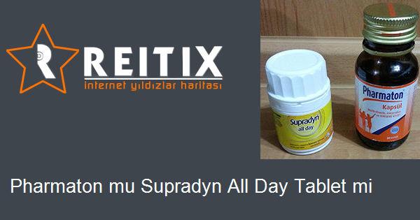 Pharmaton mu Supradyn All Day Tablet mi