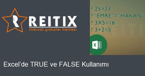 Excel'de TRUE ve FALSE Kullanımı