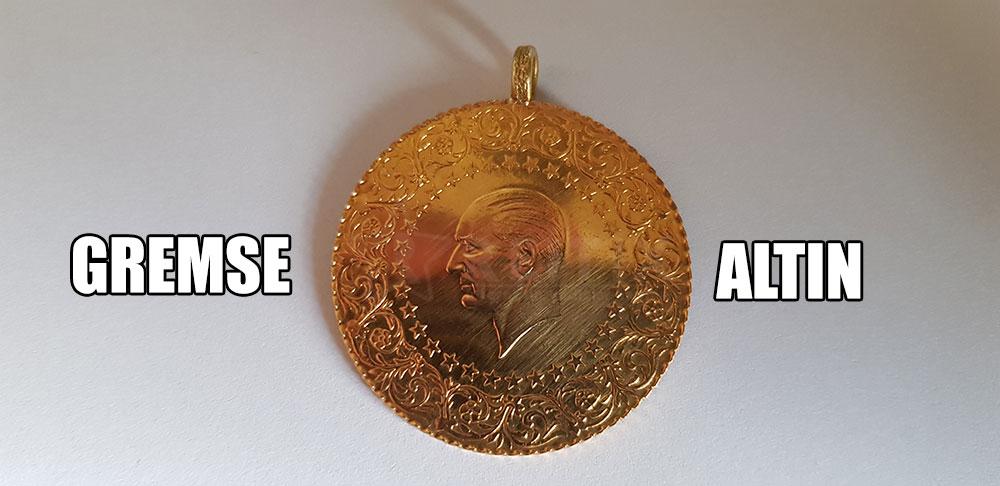 gremse altın ön yüzü Atatürk