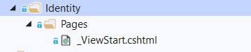 aspnet mvc core identity folder empty