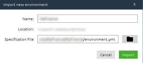 anaconda import environment