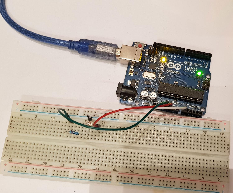 arduino ışık sensörü devresi