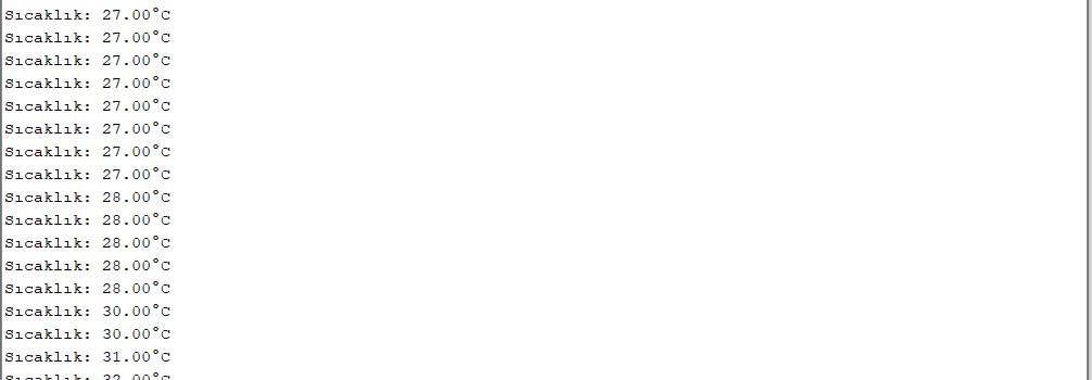 arduino sıcaklık değerleri