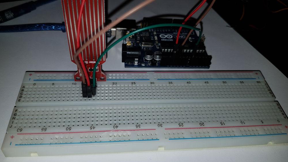 arduino su sensörü breadboard