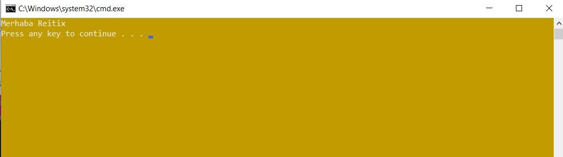 c# konsol rengi değiştirmek