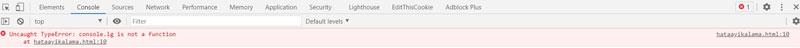chrome js error