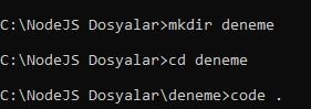 cmd vs code