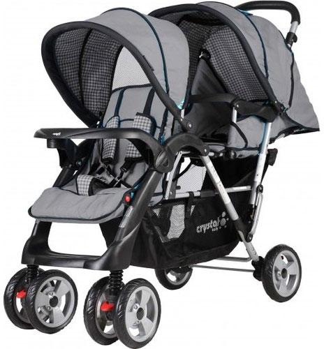 Crystal Baby 234 Armoni İkiz Bebek Arabası