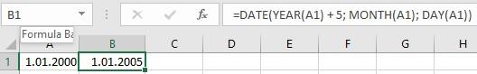 excel date fonksiyonu