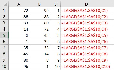 excel large function