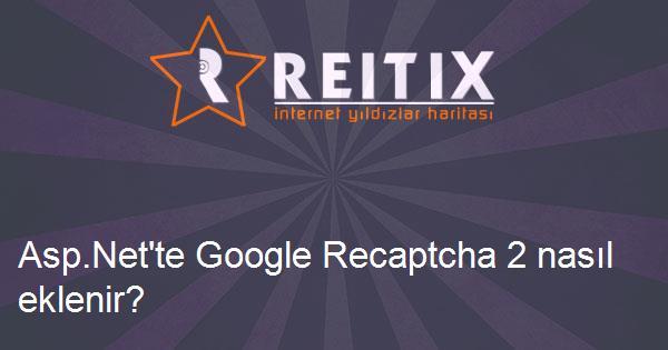 Asp.Net'te Google Recaptcha 2 nasıl eklenir?