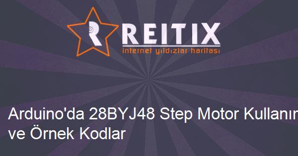Arduino'da 28BYJ48 Step Motor Kullanımı ve Örnek Kodlar