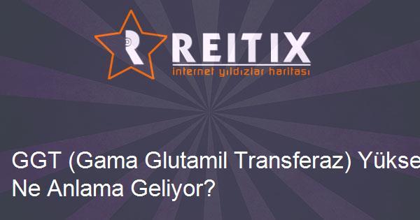 GGT (Gama Glutamil Transferaz) Yüksekliği Ne Anlama Geliyor?