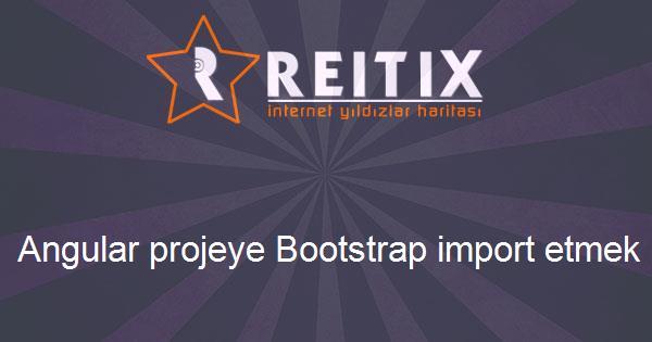 Angular projeye Bootstrap import etmek