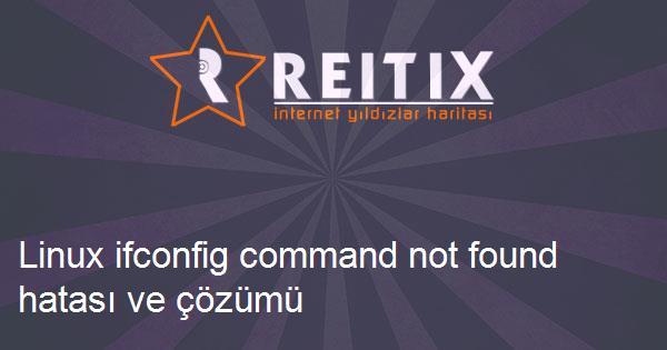 Linux ifconfig command not found hatası ve çözümü
