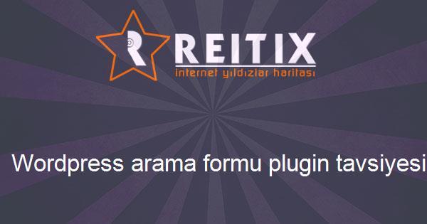 Wordpress arama formu plugin tavsiyesi
