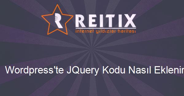 Wordpress'te JQuery Kodu Nasıl Eklenir?